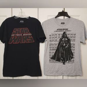 Two Star Wars Graphic Tees M